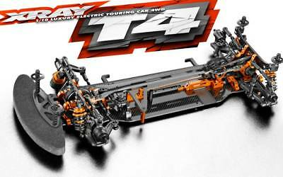 XRA300025  T4 2019 Graphite Chassis 1/10 Touring Car Kit