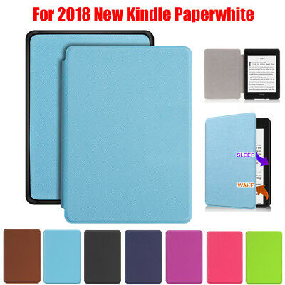 For Amazon 2018 NEW Kindle Paperwhite Case Magnet Flip Slim Leather Smart  Cover