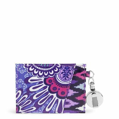NEW Vera Bradley Retractable Lanyard ID Case Lilac Tapestry Northern Lights