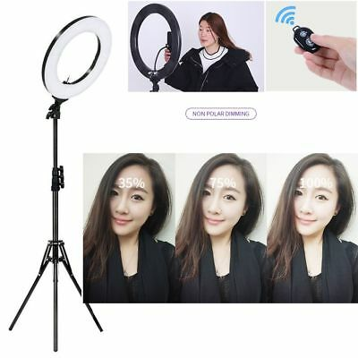 """6""""/14"""" LED SMD Dimmable 5500K Ring Light with Stand Makeup Phone Camera Selfie"""