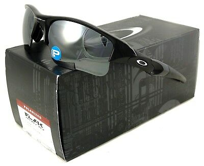 95b8fa8ef1ad New Oakley Flak Jacket Xlj Sunglasses 12-903 Jet Black   Black Iridium  Polarized