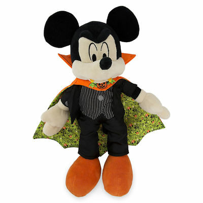 Disney Parks Exclusive Mickey Mouse as Vampire Halloween Plush New with Tag