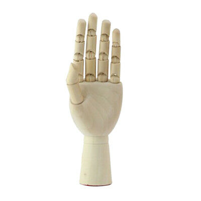 Baoblaze 18cm Jointed Wooden Left Hand Mannequin Hand Painting Manikin Aid
