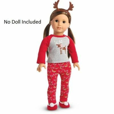 AMERICAN GIRL DOLL-AG Truly Me Festive Reindeer Pj's- 5pcs- NEW in Box