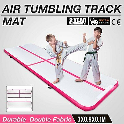10x3Ft Air Track Floor Tumbling Inflatable Gym Mat Pro Gym Mats Water Sport