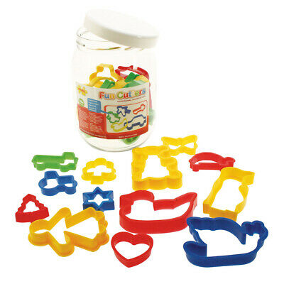 Bigjigs Toys Children's Jar of 24 Pastry Cutters Baking Kitchen Accessories