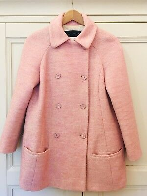 26d9ef654 ZARA BABY PINK Tweed Textured Coat Size Medium - £29.99