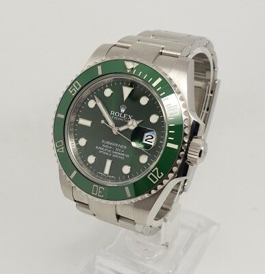 Rolex 116610LV Hulk Submariner Green Ceramic Mens 40mm Watch, Box & Papers 2012