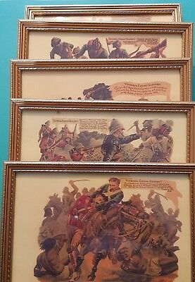 VICTORIA CROSS GALLERY 5 FRAMED PRINTS  Harry Payne