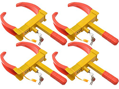 TMS 4pcs of Wheel Lock Clamp Boot Tire Claw Auto Car Truck RV Boat Anti-Theft