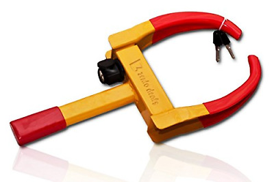 Zento Deals Security Tire Clamp - Heavy Duty Anti- Theft Vehicle Wheel Lock For