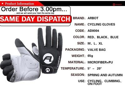 Professional Cycling Gloves Waterproof Windproof Full Finger Touch Screen Pair