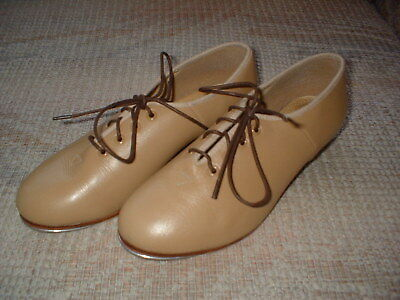 Bloch Leather Girl's Tap Shoes Size 6 London Tan
