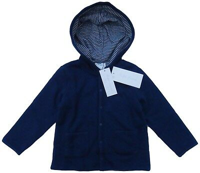 RALPH LAUREN baby boy Reversible Hooded JACKET 9 12 18 24M soft cotton BNWT