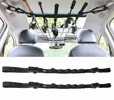Booms Fishing VRC Vehicle Rod Carrier Holder Belt Strap With Tie Suspenders Wrap