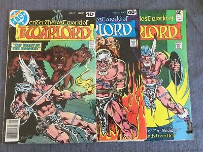 DC Comics The Warlord (Lot of 3) #22,23,29