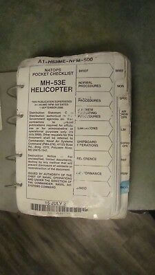 Natops Pocket Checklist Navair A1-H53Me-Nfm-500, As Is!!, Free Shipping!!