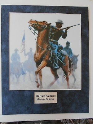 BUFFALO SOLDIERS by Mort Kunstler     MILITARY ART   MILITARY PRINT
