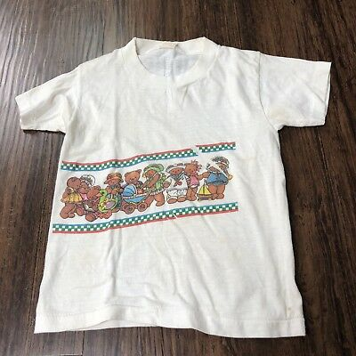 Vintage Teddy Bear T Shirt Soft Thin Single Stitch Tee Junior Stars Youth Kids