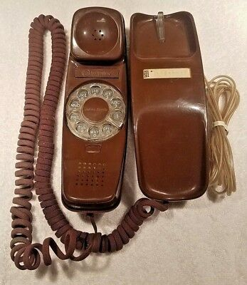 Vintage 1970's Western Electric Brown Rotary Dial Trimline Desk Phone