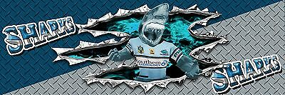 NRL SHARKS     MANCAVE BANNER Work Shop Garage Shed Bar Whisky
