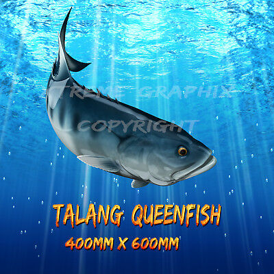 Talang Queen Fish Jack Decal Left&right 400Mm X 600Mm  Boat / Car / Truck