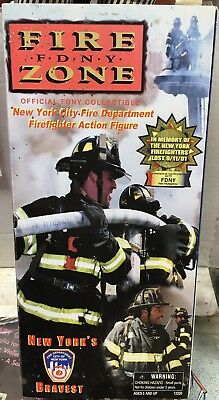 Fire Zone FDNY New York's Bravest In Memory 9/11 Firefighter Doll Real Heroes