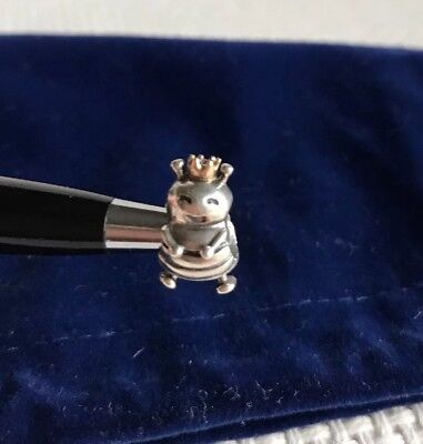 RETIRED Authentic Pandora Queen Bee Silver Charm With 14k Gold 790227