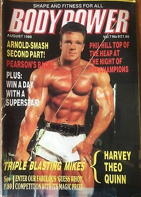 Bodypower Magazine, August 1988,  on the cover - Andy Watts