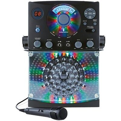 The Singing Machine Bluetooth Karaoke System CD+G Friends Music Party Microphone