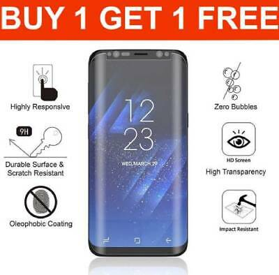 Screen protector for samsung galaxy s8 clear tempered glass curved cover round