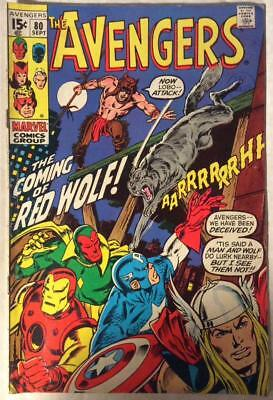 Avengers #80 (Marvel 1970) Bronze age classic. FN- condition.