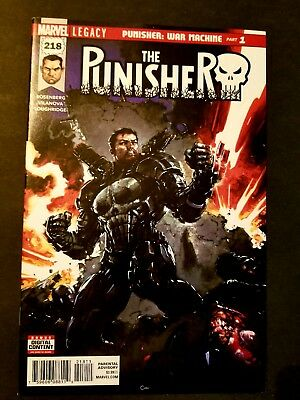 Punisher 218  NM 1st cover/appearance of Punisher as War Machine Marvel Legacy