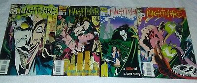 Nightmare #1,2,3,4 (A Killer of a Love Story) 1994 MARVEL VF ~Free Shipping~