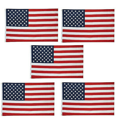 5 Pcs 3x5 ft American Flag Grommets United States of America Banner Fast US