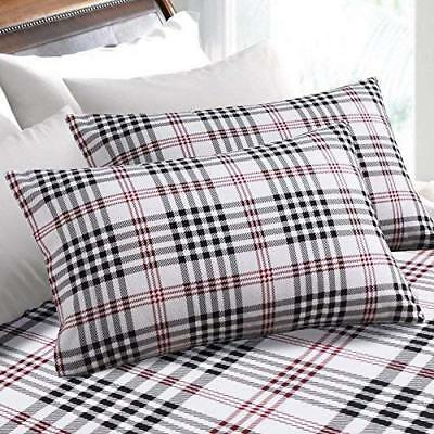 Jcp Home Xl Twin Sheet Set White With Gray Checkered Sheets Bx34