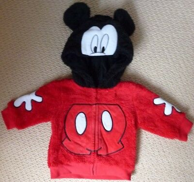 NWT Disney Baby Licensed Boys Mickey Mouse Zip Jacket with Hood Size 00 or 0