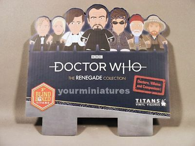 """Doctor Who Titans 3 """" Vinyl Renegade Collection  In Stock"""