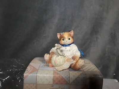 "Enesco - Calico Kittens - ""Your Patchwork Charm Shows Through"" - 129453 - 1994"