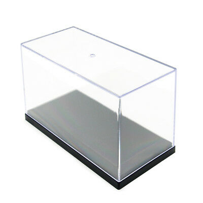 3.3 inch Acrylic Display Case Clear Small Perspex Box Plastic Base Dustproof UV