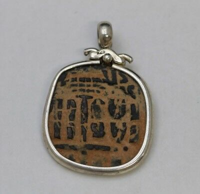 Sterling Silver Pendant with Genuine Byzantine Coin 500-900 AD w/Cert - 2109