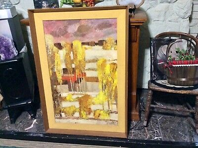 Mid Century MCM PICTURE BERNARD CATHELIN  Original Framed Board Print