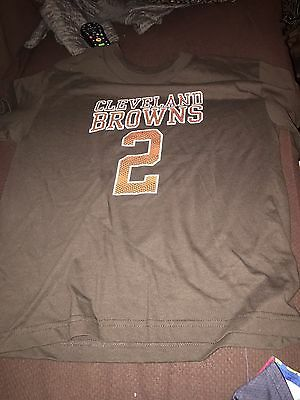 77532a480300 Johnny Manziel Shirt Cleveland Browns Youth Player Tee NFL Football Official  NWT