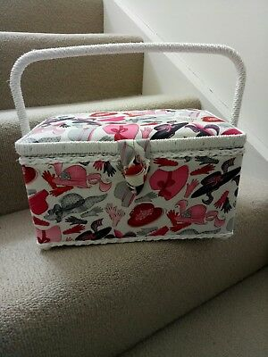 Sewing Box with Hat Print