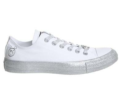 0299eb6e0d4c NEW CONVERSE ALL Star Glitter Toe Sneakers Shoes White Womens Shiny ...
