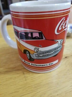 Coca Cola Coffee Mug 1957 Route Salesman's Car '57 Chevy 2002 Coke Cup Red White