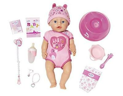 Baby Born Doll Soft Touch-Girl Blue Eyes Interactive Girls Play Xmas Gift Toy