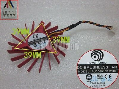 1 pcs POWER LOGIC Fan PLD06010S12L DC 12V 0.20A 32*39*43mm 4 Pin