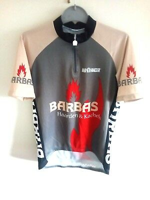 Vintage Bio-Racer Sport Cycling Jersey Shirt Top Size 4~L Barbas Fires 0b64afea6