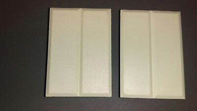 Consumer Unit Blanks 2 X Double Blanking Spare Plate White Yellow Shade